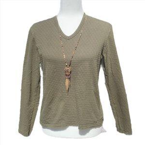 🔥 J. Crew 100% Cotton Green Long Sleeve Shirt